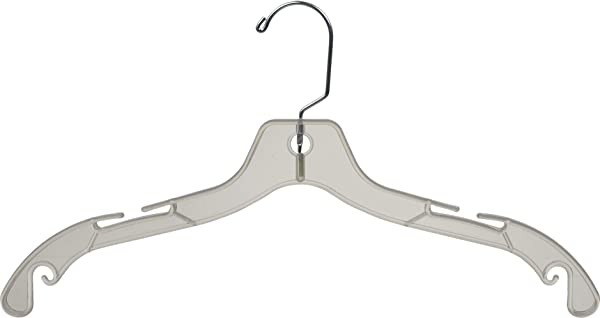 Sturdy Clear Plastic Top Hanger Box Of 100 Durable Space Saving Hangers W 360 Degree Chrome Swivel Hook And Notches For Shirt Or Dress By The Great American Hanger Company