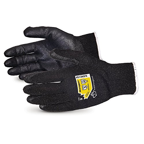 Dexterity High Abrasion and Cut Resistant Glove with Foam Nitrile Palm - Touchscreen Compatible - S13NGFN-8