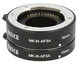 Impulsfoto - Anelli intermedi automatici, 2 pezzi, 10 mm e 16 mm per macro foto compatibili con fotocamere Nikon 1, contatti in metallo