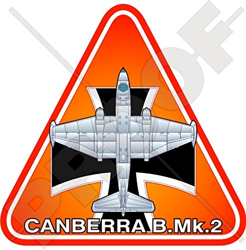 Engels Elektrische CANBERRA B.Mk.2 DUITSLAND Duitse Luchtmacht LUFTWAFFE Vliegtuigen Vinyl Sticker, Decal 3.7