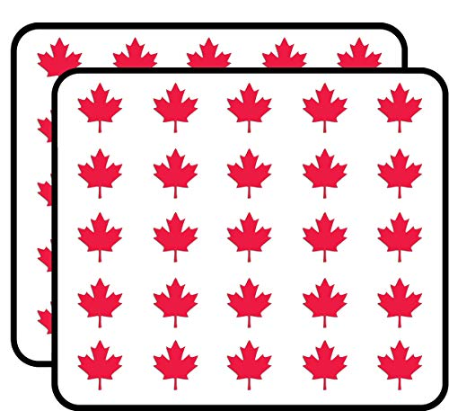 Maple Leaf Shaped (Canada Canadian Flag Logo) Sticker for Scrapbooking, Calendars, Arts, Kids DIY Crafts, Album, Bullet Journals