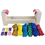 Craft County Adjustable Jig Bracelet Maker Pack Kit – 550 Paracord and Buckles Included – Wristband Maker Parachute Cord Weaving Braiding DIY Crafting Tool – Wooden Base