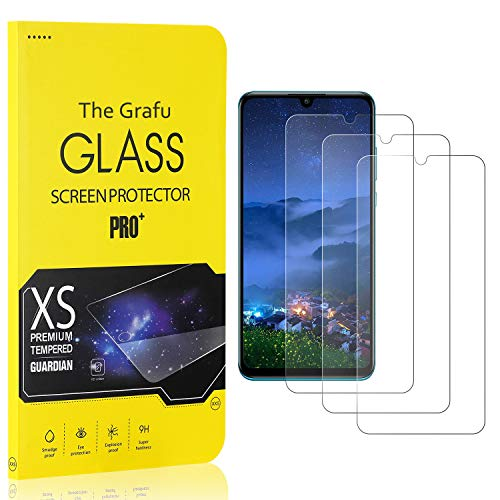 For Sale! The Grafu Screen Protector Compatible with Huawei P30 Lite, Tempered Glass, Scratch Resistant HD Screen Protector Film for Huawei P30 Lite, Easy Installation, 3 Pack