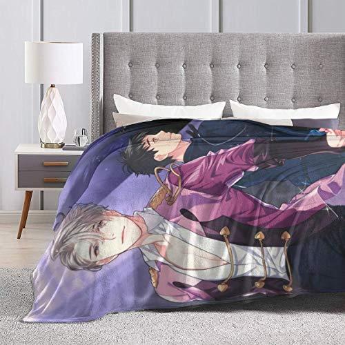 ChristineBermudez Yuri On Ice Comfortable Super Soft Blanket, Ultra Light Comfortable Flannel Winter Warm Blanket, Bedding for Sofa Navy Bedroom Living Room60 x50