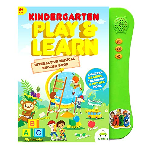 Kiddale Interactive Children Book -Musical English Educational Learning Book for Kids -Green