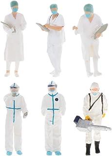 sharprepublic Mini Tiny Doctors i skala 1:64 figur PVC People Scenario modelltillbehör