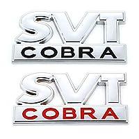 WQSNUB カーステッカーSVTCOBRAエンブレムバッジリアトランクデカールフロントフードグリル、フォードマスタングシェルビーSVTコブラF150 F250 F350GTフィエスタ用
