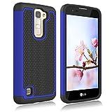 LG K7 Case, LG Treasure LTE Case, LG K8 Case, LG Tribute 5 Case, LG Escape 3 Case, LG Phoenix 2 Case, LG K373 Case, Zectoo Drop Protection Hybrid Dual Layer Armor Defender Protective Case - Blue