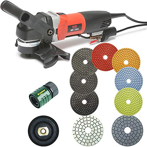 Sale!! MK Diamond 4 Inch Polisher - MK-1503 Wet Polisher - 7pc set of 4 wet Marble Pads - black and...