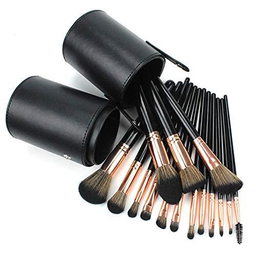 Brosse De Maquillage Professionnel 15 Pcs Ombre À Paupières Cheveux Nylon Artiste Maquillage Brosse Contour Blush Avec Seau Maquillage Noir