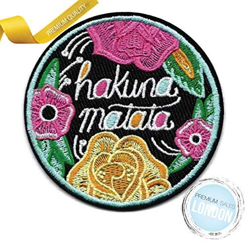 Hakuna Matata (inspirado en el Rey León) parche para planchar, apliques para decoración de ropa