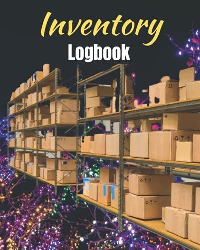 Libro de registro de inventario: Log de ideas para el rastreador de inventario de pequeñas empresas, administrador de acciones, calendario de ... de luces de cadena de colores...