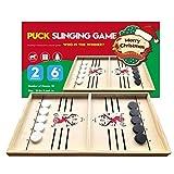 Bouncing Chess Hockey Game, Holz Sling Puck Brettspiel, Gewinner Brettspiele Spielzeug Hockeyspiel Klassisches Desktop Battle 2 In 1 Eishockeyspiel Für Eltern-Kind-Interaktivität