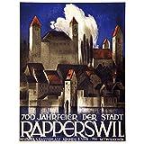 zkpzk Schweiz St.Gallen Tourismus Poster Rapperswil Classic