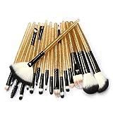 HOUXIAONI Set di Spazzole per Trucco per Labbra per Ombretto Eyeliner Eyeliner per Fondotinta in Polvere Multifunzione 18pcs,2-OneSize