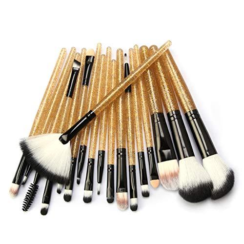 HOUXIAONI 18pcs Multifonctions Pro Cosmetic Powder Foundation Eyeshadow Eyeliner Lip Makeup Brushes Sets,2-OneSize
