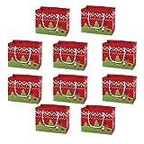 Cabilock 10 Unids Bolsa de Asas Navideña Bolsas de Supermercado Reutilizables de Vacaciones Bolsas de Papel Bolsas de Compras Navideñas con Asas para Regalos de Fiesta