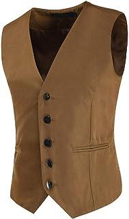 Homebaby Gilet Uomo Elegante Blazer Giacca Panciotto Smanicato Formale Casual Lavoro Classic Festivo Vestito da Festa Cost...