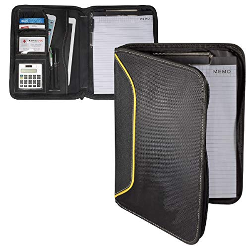 Professional Full Zipper Contractor's Field Portfolio Clipboard Writing Pad Calculator