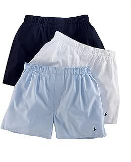 Men`s Classic Fit Cotton Woven Boxers 3 Pack