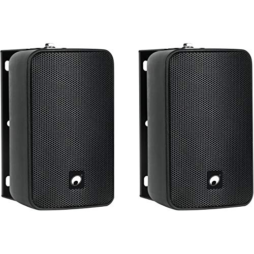 OMNITRONIC ODP-204T Lautsprecher, 100 V, 2 Stück, Schwarz