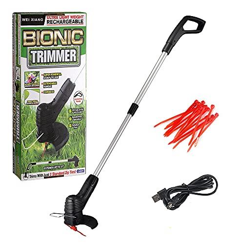 Aibecy Cortador de grama elétrico sem fio Handheld portátil leve cortador aparador USB cortador elétrico recarregável comedor de ervas daninhas