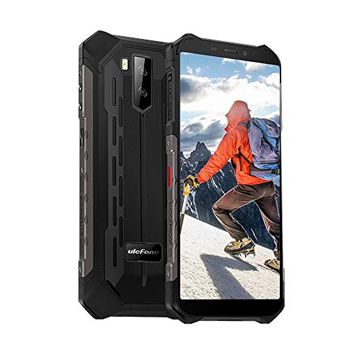 Ulefone Armor X5 Rugged Phones Unlocked, Rugged Cell Phones Unlocked Waterproof Android 9.0 5.5'' 32GB+3GB 4G LTE 13MP Camera 5000Mah Battery Dual Sim, GPS Compass Hot Spot WiFi OTG Face ID-Black