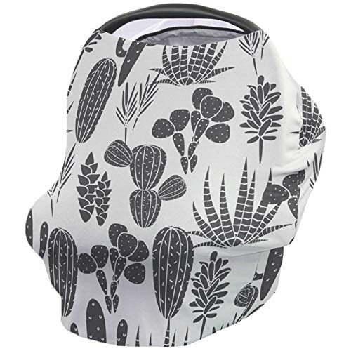 Amazing Deal Nursing Breastfeeding Cover Car Seat Canopy for Baby Natural, Cactus Illustration Ultra...