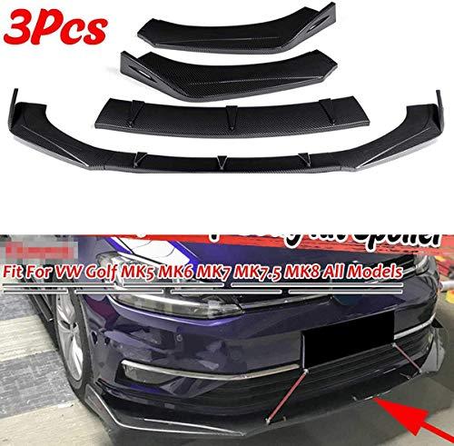 XBXDM Universal Auto Front Stoßstange Splitter Lip Diffusor Spoiler Für Vw Für Golf Mk5 Mk6 Mk7 Für Passat Für Jetta Für Polo Für Scirocco