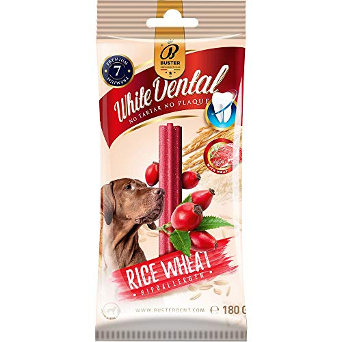 Buster Healthy Dog Chewy Dental Stick Rice 180g Meat Rosehips