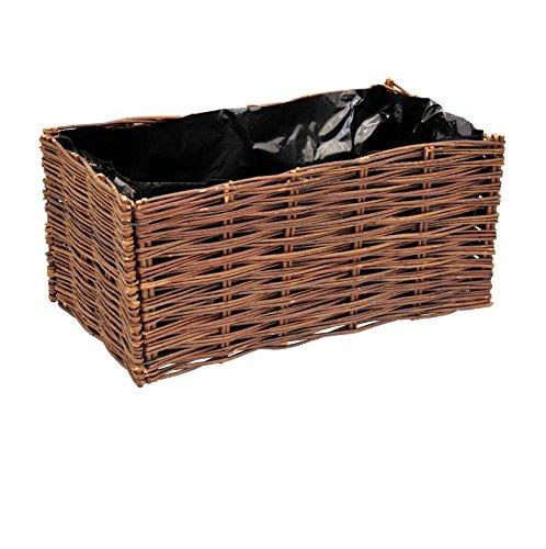 VERDEMAX 8015358022583 orto in salice-Giardinaggio contenitori da Raccolta, Unica