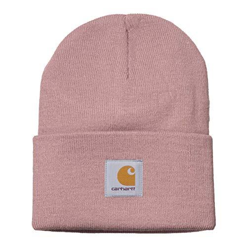 Carhartt WIP Acrylic Watch Hat Chapeau d'hiver Unisexe avec Autocollant 7kmh Rose 10199