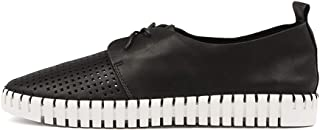 Django & Juliette Huston Black Womens Sneakers Casuals Shoes