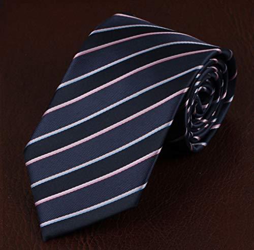 DIAOKUD Cravates Homme,Cravate De Travail Professionnelle pour Hommes, Tenue De Mémoire, Façonnage De La Mémoire, Difficile À Froisser, pour Un Voyage d'affaires, Fête De Mariage, Rencontres