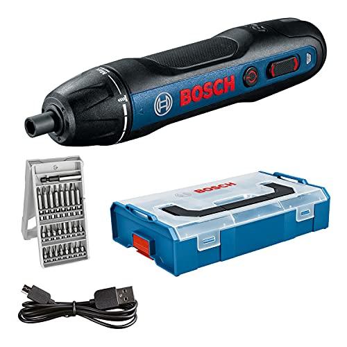Bosch Professional cordless screwdriver Bosch GO (incl. 25-piece bit set, USB charging cable, L-BOXX Mini) – Amazon Exclusive Set