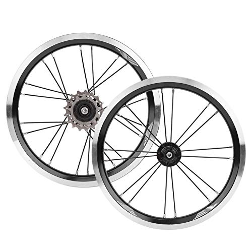CHICIRIS Juego de Ruedas de Bicicleta Plegable de 14 Pulgadas, Freno en...