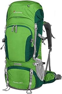 Mountaineering Bag 60L Shoulder Female Large Capacity Outdoor Bag Male Hiking Backpack Female Ultra Light Multifunction XLSM (Color : D)