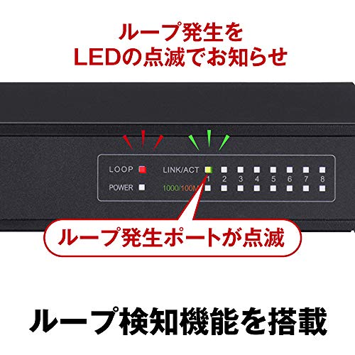 『BUFFALO Giga対応 金属筺体 電源内蔵 8ポート ブラック スイッチングハブ 日本メーカー LSW5-GT-8NS/BK』の6枚目の画像