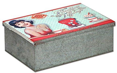 Générique Boîte à Sucre Fille - Vintage rétro - Zinc