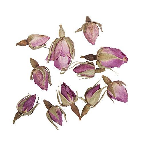 Rayher Hobby 34242000 Rosenknospen, 7g, getrocknet, duftintensive, aromatische Deko, Blütenmischungen, ideal zum Einarbeiten in Badekugeln, Knetseife und Badesalz, Echtblüten, rose