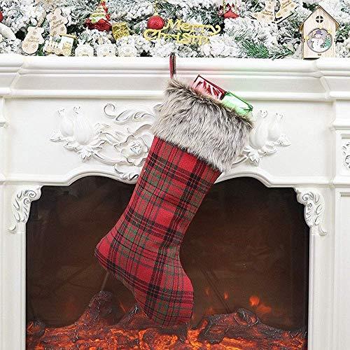 NLRHH Das Neue 2019 Weihnachten ve Artikel Gesichtslose Puppe Alte Weihnachtsbaum Ornamente Socken Geschenk Taschen Geschenkbeutel DIY (Farbe: rot, Größe: 22 cm * 47,5 cm) Peng (Color : Red)