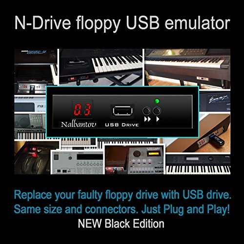 Nalbantov N-Drive 100 un emulador de disquetera USB para Yamaha Tyros 1; PSR 340/350/450/540/550/630/640/730/740/1000/1100/2000/2100