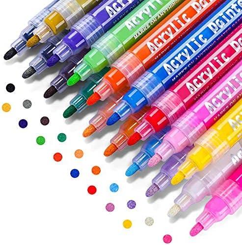 Acrylic Paint Marker Pens Emooqi San Jose Mall P Waterproof Premium Colors safety 18