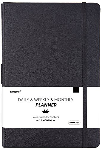 Undated Daily/Monthly Planner + Calendar Stickers and Monthly & Weekly to-DO List to
