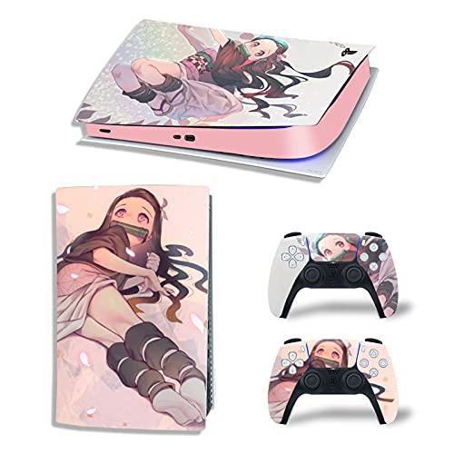 AOO para la película Protectora de la Piel PS5, Etiqueta de la Cubierta Protectora de película PVC para la Piel del Controlador PS5 para Playstation 5 Degetal de la Gamepad,C