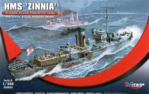 Mirage Hobby 350802 - HMS Zinnia Flower-Class Corvette K98, Schiff