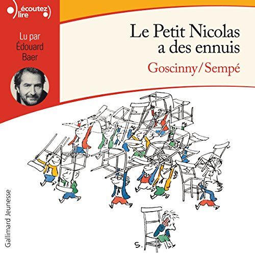 Le Petit Nicolas a des ennuis     Le Petit Nicolas              By:                                                                                                                                 René Goscinny,                                                                                        Jean-Jacques Sempé                               Narrated by:                                                                                                                                 Édouard Bear                      Length: 1 hr and 55 mins     5 ratings     Overall 5.0