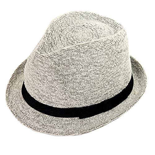BAOGUAN Winter warme Hüte British Style Wild Jazz Hut Männer und Frauen Casual Travel Hats (Color : Gray, Size : OneSize)