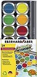 Eberhard Faber 578324 Winner Deckfarbkasten mit herausnehmbaren Näpfchen, 24er Version