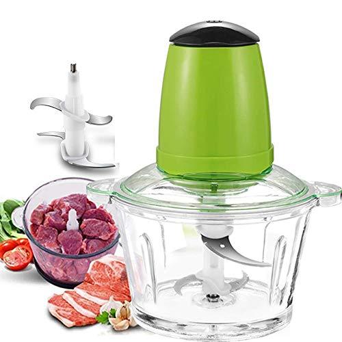 Picadora de Alimentos Electrica Robot de cocina eléctrica, mini-Picador de carne eléctrica...